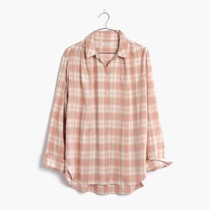 Madewell Central Oversized Top in Danville Plaid